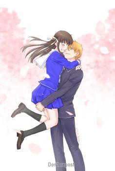 Kyo And Tohru, Yuki Sohma, Fruits Basket Anime, Fruits Basket Cosplay, Anime Love, Otaku, Manga Cute, Pics Art, Anime Couples