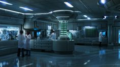 Medical Research Lab by Chris Caldow on ArtStation. Arte Cyberpunk, Cyberpunk Aesthetic, Research Lab, Medical Research, Spaceship Interior, Futuristic Interior, Futuristic Design, Futuristic Architecture, D Lab