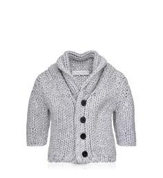 BABY DIOR - Light grey cashmere cardigan