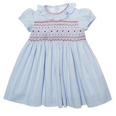 For girls: A classic hand-smocked dress