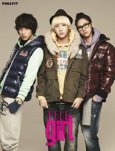 Gong Chan, Baro, CNU - Elle Girl Magazine