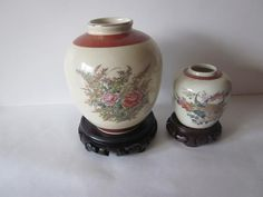 Vintage Vases Chinese Japanese Oriental Asian Satsuma Moriage Large Vase Top Watermelons Antiques