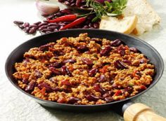 Chili Con Carne (Danish recipe). I've made this many times and it's a success each time.