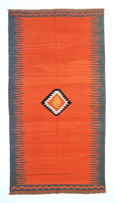 New Turkish Kilim with vegetable-dyed and hand-spun wool.