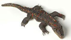 Beaded Alligator from Guatemala - over 2 feet long