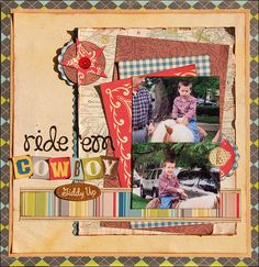 October Afternoon Sasparilla - Ride 'Em Cowboy - Scrapbook.com