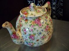 Chintz Teapot-MM-Made in Japan-Beautiful Pattern on Etsy, $48.00
