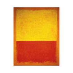 Rothko, the undisputed King of Color, really knows how to let his hues do the talking. A marvelous melding of yellows, reds, and golds, this print offers a stunning abstract design. Hang this expressio...  Find the Rothko's No. 12 Art Print, as seen in the Make it Your Own Mid-Century Collection at http://dotandbo.com/collections/make-it-your-own-mid-century?utm_source=pinterest&utm_medium=organic&db_sku=115759