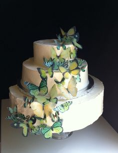 The Original EDIBLE BUTTERFLIES  Assorted Green set by SugarRobot, $24.95