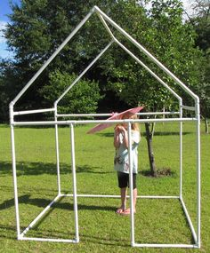 Fast and Easy, PVC Kids Fort (for under $60)