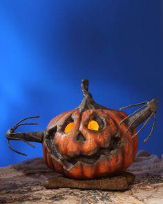 Royal Lion Silver Square Necklace Halloween Scarecrow Pumpkins Crows