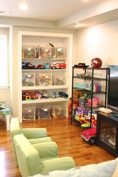 Operation: Organization 2014 ~ Playroom Organization from Simply Organized