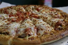 The Great American Pizza Co. in Brunswick was third in line for tasting Kristel Hartshorn and Joe Crea sampled the cheese pizza and the Bismark and a Chicago style deep dish pizza. Photo by David Petkiewicz / NEOMG