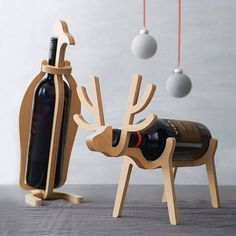 Are you interested in our Penguin Or Reindeer Wine Rack? With our Penguin Reindeer Wine Rack you need look no further. Cnc Projects, Woodworking Projects, Youtube Woodworking, Woodworking Furniture, Wood Crafts, Diy And Crafts, Wine Bottle Holders, Drink Holder, Diy Holz