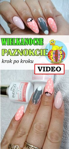 Jak zrobić piękne WIELKANOCNE PAZNOKCIE krok po kroku [VIDEO] Easter Nails, Holiday Nails, Nails Design, Manicure, Nail Art, Hair, Inspiration, Beauty, Pure Nail Bar
