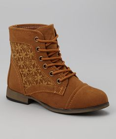 This Tan Lace Chapter Ankle Boot is perfect! #zulilyfinds
