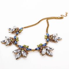 Statement Vintage Floral Necklace Luxury Jewelry