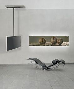 Contemporary Swivel TV Cabinet ART116 Wissmann Raumobjekte