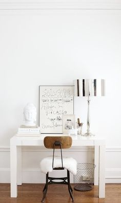 artistic and minimalist workspace!