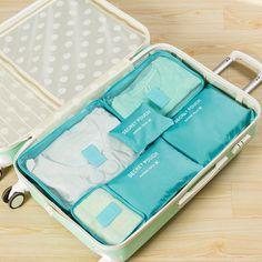 6pcs In One Set travel Bag Cosmetic Toiletry Makeup Bags And Cases Kosmetiktasche Organisateur De Sac A Main Organizador Bolso
