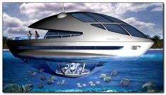 Trilobis 65 floating home features in new water park design Yacht Design, Boat Design, Underwater Hotel, Waterfall Features, Container Architecture, Floating House, Parking Design, Outdoor Swimming Pool, Super Yachts
