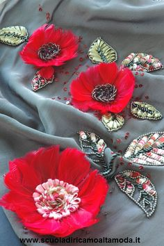 Haute couture embroidery course in Rome and Milan, Italy, Fashion embroidery school in Rome and Milan. (silk ribbon, Luneville, tambour end beads) Visit our web site: www.scuoladiricamoaltamoda.it Scuola di ricamo Alta moda a Roma e a Milano (moulage, ricamo, modisteria). Info: +39-3297075845, +39-0697273939