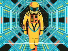 Created for Gallery1988′s annual Crazy 4 Cult show, as a tribute to Kubrick's timeless space epic.  18″ x 24″ 4-color silkscreen print Signed & numbered in a limited edition of 50  See it in  f...