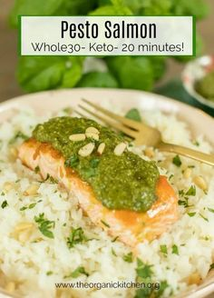Pesto Salmon (Whole30-Keto-Low Carb) | The Organic Kitchen Blog and Tutorials