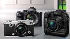 Die besten Systemkameras im Test ©Panasonic, Sony, Olympus, ufotopixl10 – Fotolia.com