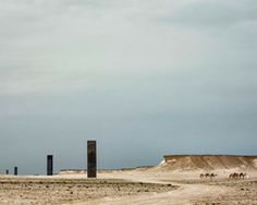 richard serra punctuates qatar's desert landscape with east-west/west-east
