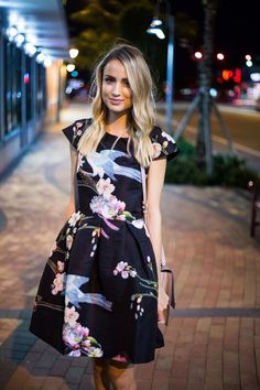 09ac4dcd988438  littleblondebook wearing Ted s Flight of The Orient dress for a night out  in the town