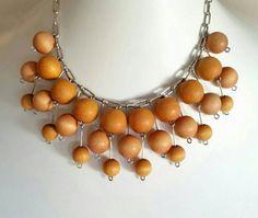 Vintage Aarikka Finland Wood Ball Modernist by scandinavianseance Light Golden Brown, Golden Honey, Pewter Color, Hang Tags, Danish Modern, Vintage Jewelry, Dangles, Finland, Wood