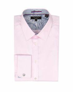 THEPLAN - LS pashion plain shirt - Pink | Men's | Ted Baker