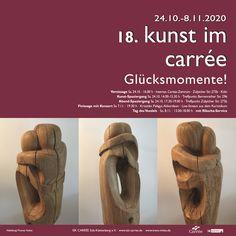 """Eine tolle Sache: Von allen Kunstwerken der 83 ausstellenden Künstler*innen ist meine Skulptur """"Umarmende"""" für Ausstellungsplakat und Einladungskarte ausgewählt worden"""