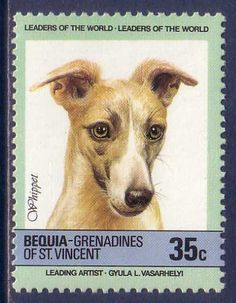 Whippet Dogs Grenadines MNH stamp
