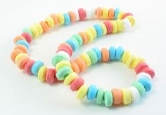 Candy necklace--remember how you'd wear it and eat it and then your neck would be all sticky?