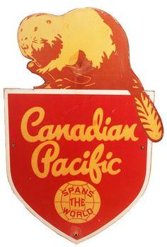 $145 Mid-Century Beaver Sign
