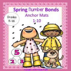 Number bonds anchor chart for numbers 1 thru 10.  Great for write and wipe, large or small groups, designed to help children visualize decomposing a number to make a number bond.  Kindergarten - 2nd grades.