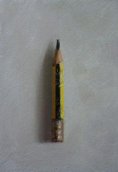 School Pencil - oil on panel - Neil Nelson