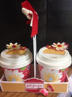 Mini coffee cup caddy