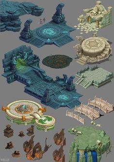 [Remind] a new version of the Peach Blossom Spring Q scene models share . 3d Fantasy, Fantasy Kunst, Fantasy Landscape, Environment Concept, Environment Design, Game Environment, Prop Design, Game Design, Game Level Design