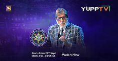 YuppTV Blog: 2 Decades ,Season 12 : Amitabh Bachchan's Kaun Ban... Smart Televisions, Online Lottery, Desperate Times, Lottery Numbers, Sony Tv, Amitabh Bachchan, Two Decades, Season 12, Live In The Now