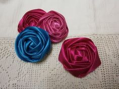 ▶ DIY ribbon rose tutorial,How to,fabric flowers,easy - YouTube