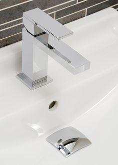 TELA CUBE SINGLE LEVER SQUARE BATHROOM BASIN MONO MIXER CHROME TAP /& FREE WASTE
