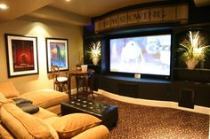 Home entertainment ideas home theater ideas basement chic idea small lighting setup in h small basement . home entertainment ideas basement