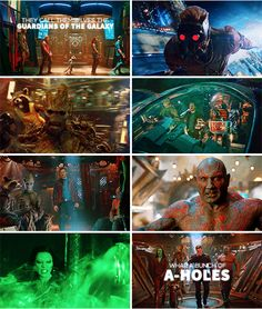 They call themselves the Guardians of the Galaxy. What a bunch of a-holes. #marvel