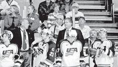 Vairo behind the bench of the 2003 U.S. National Junior Team in Nova Scotia.