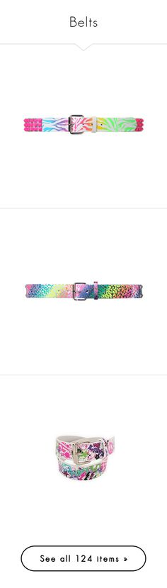 """""""Belts"""" by geeky-j ❤ liked on Polyvore featuring accessories, belts, women, neon belt, studded belt, jewelry, hot topic, other, rainbow and pyramid stud belt"""