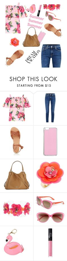 """#PolyPresents: Dream Vacation"" by creativejenerator ❤ liked on Polyvore featuring Dolce&Gabbana, Acne Studios, Ancient Greek Sandals, Miss Selfridge, Coach, Kate Spade, Forest of Chintz, Lilly Pulitzer, NARS Cosmetics and contestentry"