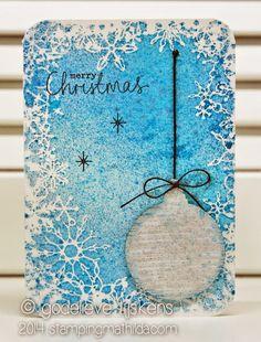 StampingMathilda: Brushed Christmas Bauble #1